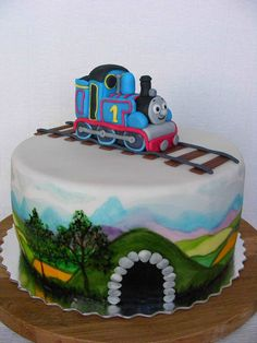 Thomas the Train cake. Jake would FLIP out!!!!!