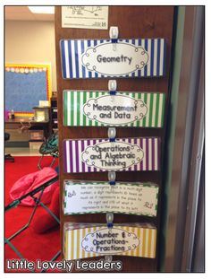Use a wall clip and a binder clip to organize your standards! This way, they are ready for you to post them while you are teaching!