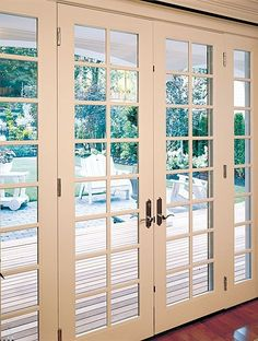 French Doors - Exterior French Door - Just like kitchen doors to patio at house in Miami French Doors Patio, Sliding Patio Doors, French Patio, Sliding Glass Doors, Sliding French Doors, Balcony Doors, Door Design, House Design, Design Design