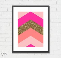 Art Print Glitter Geometric Arrows Archival by ScissorsPaperMouse, $14.00