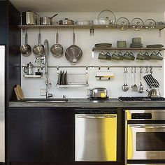 Stainless steel shelves from IKEA