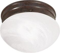 """Nuvo 76-670 - 8"""" Close-To-Ceiling Flush Mount Ceiling Light"""