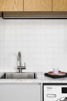 The Laundry — A Cantilever Approach — Kitchen Renovation & Custom Kitchen Designs Kitchen Tile, Kitchen Dining, Kitchen Decor, Laundry Room Design, Laundry In Bathroom, Laundry Rooms, Bungalow Interiors, Laundry Room Layouts, Laundry Room Inspiration