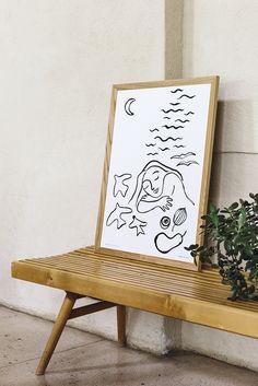 Image of Ne kesäyöt -juliste Lounge Furniture, Cool Furniture, Furniture Design, Scandinavian Pattern, Scandinavian Design, Hemp Fabric, Scandinavian Furniture, Diy Wall Art, Furniture Collection