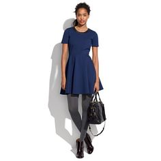 Leather Trim Dress || madewell
