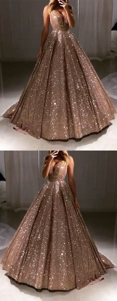 Luxurious Rose Gold Sequin V-neck Ball Gowns Prom Dresses 2019 Quinceanera Dress. - Luxurious Rose Gold Sequin V-neck Ball Gowns Prom Dresses 2019 Quinceanera Dress For Birthday Source by - Gold Prom Dresses, Grad Dresses, Homecoming Dresses, Dress Prom, Prom Dress Rose Gold, Sweet 16 Dresses Gold, Rose Gold Quinceanera Dresses, Pink Dresses, Elegant Dresses