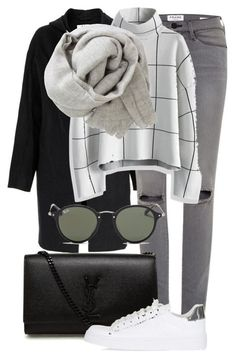 """""""Untitled #2256"""" by annielizjung ❤ liked on Polyvore featuring Acne Studios, Frame Denim, Chicwish, Yves Saint Laurent, Topshop, Brunello Cucinelli and Ray-Ban"""
