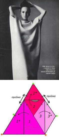 La costura ✂ los Patrones. El Vestido-sobre \u000a¿Experimentamos? \✂ \u000a\u000aLa foto, claro, hechiza... ¿Con interés, y cómo este vestido se mira sobre la figura en el movimiento, si es conveniente en ello? \u000a\u000aEl esquema del montaje del vestido es encontrado sobre los vastos espacios del Internet. \u000aLa foto: Vogue, el septiembre 1963.