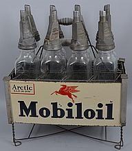 Mobiloil Filpruf Diamond Shape Bottle with Holder