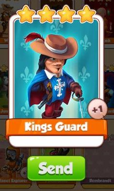 Kings Guard Card - Legends Set - from Coin Master Cards - Tassie Books Game Cards, Card Games, Kings Card Game, Electronic Cards, Online Games, Physics, Legends, Coins, Messages