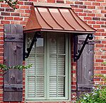 Juliet Copper Awning - The Juliet Gallery - CANNON COPPER AWNINGS - Copper Awning - Metal Awning for Doors & Windows - Shipped in USA