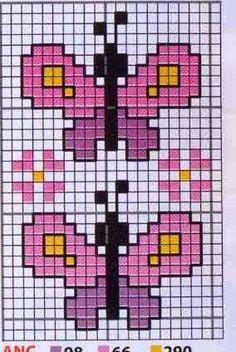 Free Cross Stitch Charts, Cross Stitch Books, Cross Stitch Alphabet, Cross Stitch Animals, Cross Stitch Embroidery, Cross Stitch Patterns, Pixel Crochet, Hama Beads Design, Butterfly Cross Stitch