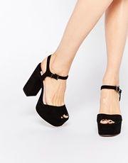 Sandalias negras con plataforma Lauper de Faith