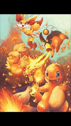 pokemon fire starters by michellescribbles on DeviantArt Pikachu Pikachu, Pokemon Go, Anime Pokemon, Pokemon Pins, Pokemon Fan Art, Charmander, Pokemon Stuff, Pokemon Games, Pokemon Mignon