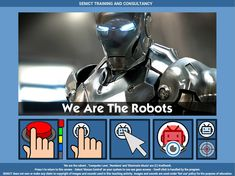 We are the Robots Jukebox - free teaching activity for switch, touchscreen, pointing device and eye gaze users. Use online or download for Windows PC.