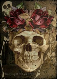 day of the dead digital collage ephemera altered art by magymai711 by trudy