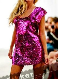 Plus-Size Pink Sequin Dress, Prom Dress, Party Dress, Trendy, plus size clothing  sequin  pink  part, Chic
