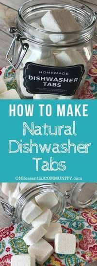easy-to-make homemade natural dishwasher detergent tabs and they REALLY WORK! Cleans stuck-on food, gets silverware shiny, & glasses sparkling! DIY essential oil recipe for dishwasher detergent tabs. Deep Cleaning Tips, House Cleaning Tips, Natural Cleaning Products, Cleaning Hacks, Diy Hacks, Cleaning Supplies, Green Cleaning, Natural Products, Natural Cleaning Recipes