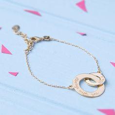 Armbänder - Armband mit personalisierten verschlungenen Ringen - ein Designerstück von MerciMaman bei DaWanda