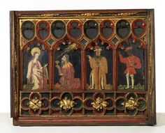 A sixteenth-century english panel depicting the adoration of the Magi; Mary and the Christ Child, illuminated by the guiding star are on the left; the three wise men/kings had come to symbolise the three ages of humankind (individually representing old age, maturity and youth) and the three known continents (Europe, Asia and Africa). (Victoria & Albert Museum)