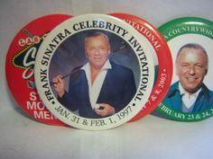 Frank Sinatra Golf badges in Nicks_Garage_Sale Sale fontana, CA for $150.00. Frank Sinatra Tournament Golf Badges Variety 1997 - 2003