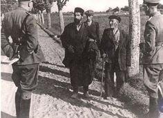 Warsaw, Poland, SS men inspecting Jews, history, photo b/w.