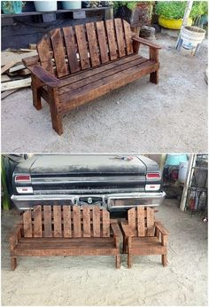 No matter whatever sort of benches and chair design you have in your house, it will always give out an impressive image when it is finished with the wood pallet manufacturing inside it. This wood pallet perfect bench and chair design is a perfect image to show out the classiness.