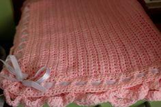 Copertina in lana e nastro bianco , maglia alta