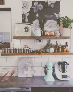 Screw perfection.  #wonkyshelves #myhome #tinycottagereno #kitcheninspiration by hayleygemma