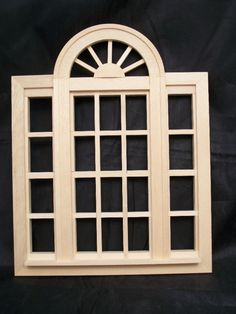 Casement Window Playscale  miniature dollhouse #95049 Fashion Doll 1/8 scale apx #Houseworks
