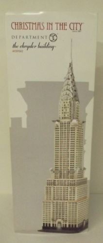 Dept-56-Christmas-In-The-City-The-Chrysler-Building-4030342-New-MIP-Lights-Up