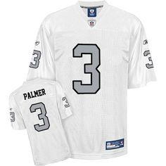 Reebok Oakland Raiders Carson Palmer 3 Authentic White Jerseys Sale