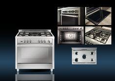 Cocina Matrix a Gas Butano o Gas Natural. Acabado Acero Inoxidable. MX96IB