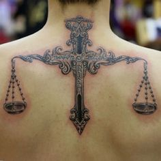 What's the meaning behind Libra tattoos? Get your inspiration from these 55 unique Libra tattoo ideas. Symbol Tattoos, Love Tattoos, Unique Tattoos, Beautiful Tattoos, Picture Tattoos, Body Art Tattoos, Tattoos For Guys, Tatoos, Skull Tattoos