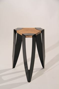 TROiKA Stool by Alex O'Connell  #design #furniture #mobilier #stool #tabouret #bois #wood #metal #steel