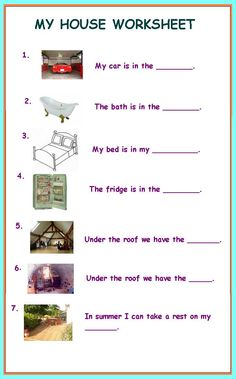 english worksheet my home projects to try pinterest english home and vocabulary. Black Bedroom Furniture Sets. Home Design Ideas