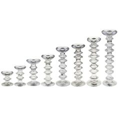 Festivo lysestage candleholder from Iittala, designed by Timo Sarpaneva in modern Finnish classic / glass with stainless insert / 5 sizes: 120 mm H / £ 43 / scandinaviandesigncenter.