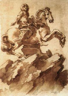 Bernini Sculpture, Gian Lorenzo Bernini, Web Gallery Of Art, Italian Sculptors, Equestrian Statue, 17th Century Art, Grisaille, European Paintings, Louis Xiv