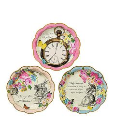 Look what I found on #zulily! Truly Alice Paper Plate - Set of 24 #zulilyfinds