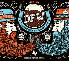 trations for DFW, a collaboration between Lakewood Brewery and Rahr & Sons Brewing in the Dallas-Fort Worth area. These limited edition, screen printed bottles mark North Texas' first brewery collaboration.