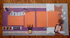 Halloween Scrapbook Layout - Gone Batty! #2pagelayout #ctmhnevermore #nevermore #ctmh fancymelissa.ctmh.com