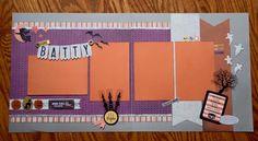 Halloween Scrapbook Layout - Gone Batty! #2pagelayout #ctmhnevermore #nevermore #ctmh fancymelissa.ctmh.com