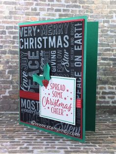 Merry Medley provides you a ton of greeting choices - get it while it is on sale! #stampinbj.com (Pin#1: Christmas: Backgorunds).