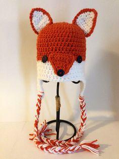 Adorable Fox Beanie on Etsy, $16.99