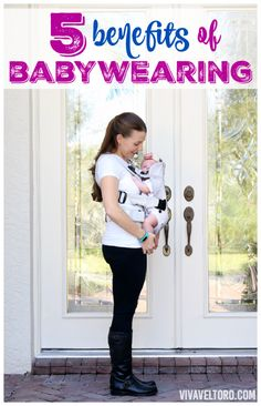 Just a few of the benefits of babywearing - I definitely think #5 is true!