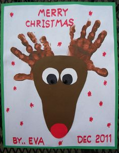 Check out these Awesome Christmas Art Projects for Kids. Kids Crafts, Daycare Crafts, Classroom Crafts, Preschool Crafts, Kids Diy, Christmas Art Projects, Noel Christmas, Christmas Crafts For Kids, Reindeer Christmas
