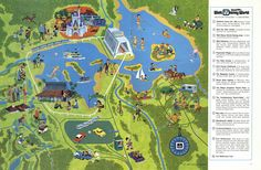 First map of WDW - note you only see the Contemporary and Polynesian on the map