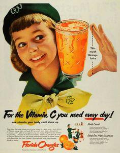 1953 Florida orange girl scout