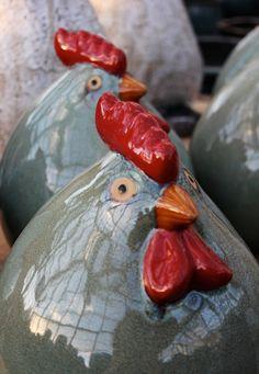 #SkyNursery ceramic chickens