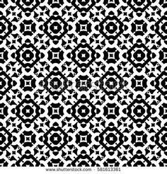 Vector monochrome seamless pattern, subtle geometric texture. Black & white abstract background, traditional motif, stylish ornamental backdrop. Design for prints, decor, textile, furniture, digital